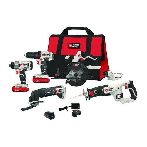 6-Piece Porter Cable 20V MAX Cordless Tool Combo Kit