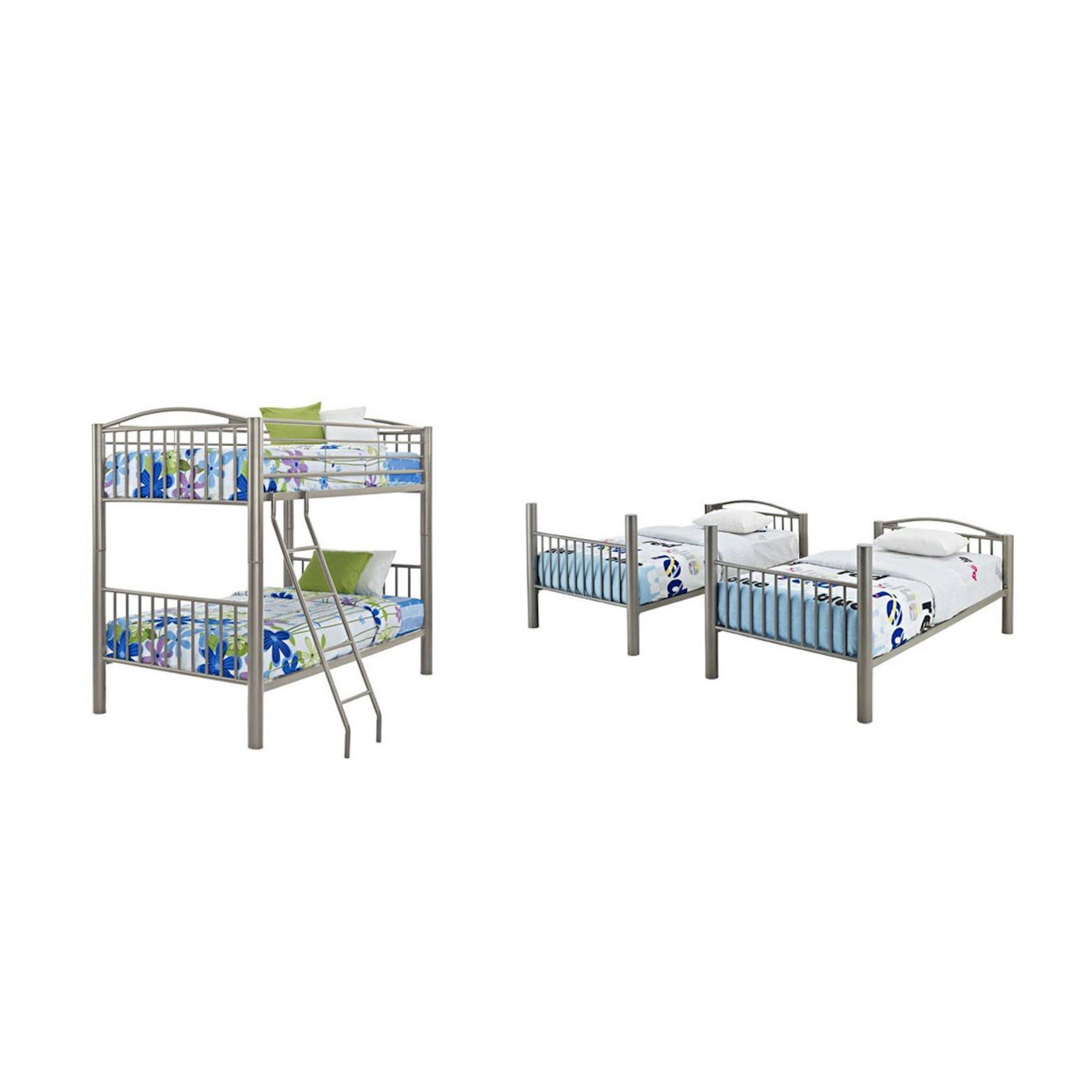 Rent To Own Powell 5 Piece Twin Metal Bunk Bed Mattress Set At Aaron S Today