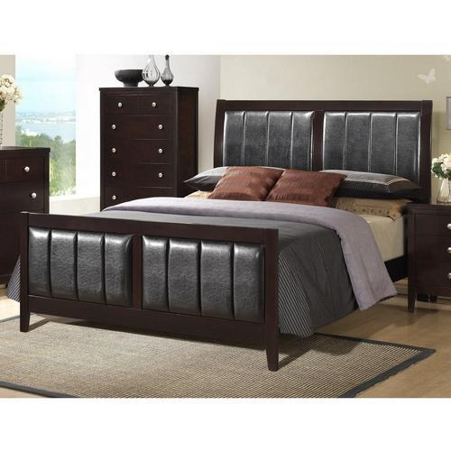 7-Piece Lawrence Queen Bed Only w/ Beautyrest Tight Top Medium Firm Mattress