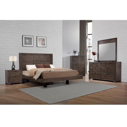 9-Piece Logic King Bedroom Collection w/ Beautyrest Tight Top Medium Firm Mattress