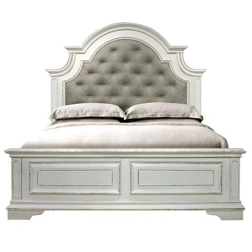 7-Piece Madison King Bed Only w/ Woodhaven Pillow Top Plush Mattress
