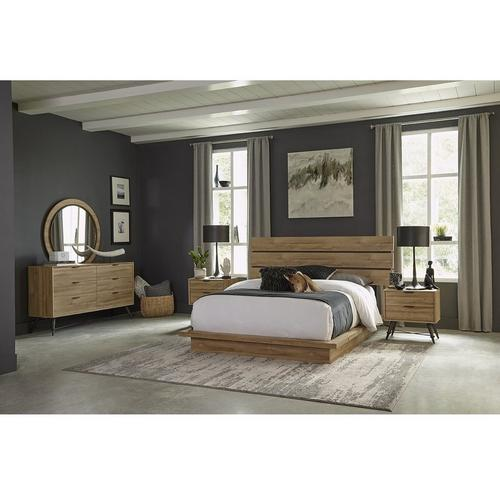 11-Piece Irony Queen Bedroom Collection With Tight Top Mattress
