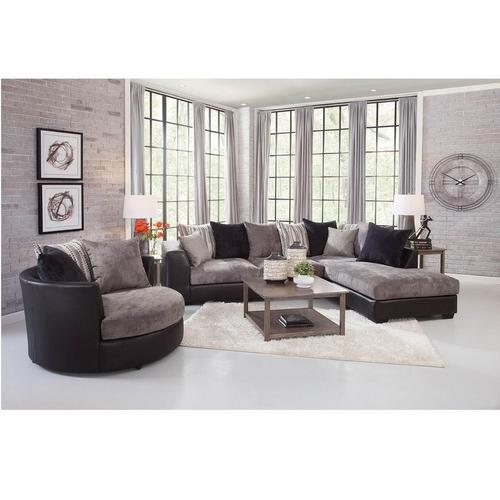 Rent To Own Woodhaven 3 Piece Jamal Chaise Sofa Sectional With Barrel Chair At Aaron S Today