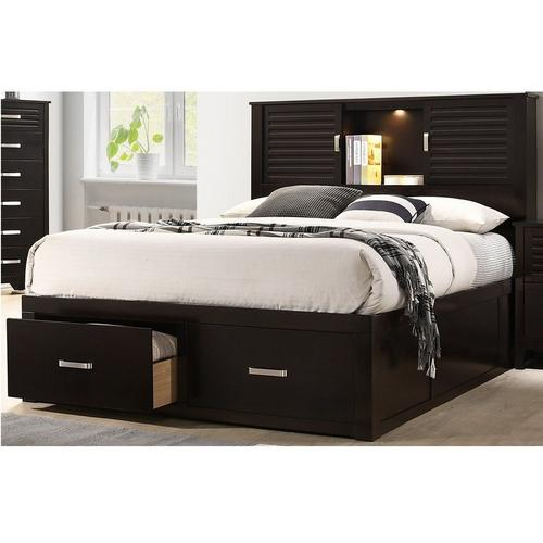 5-Piece Dalton Queen Bed Only w/ Corsicana Tight Top Firm Mattress