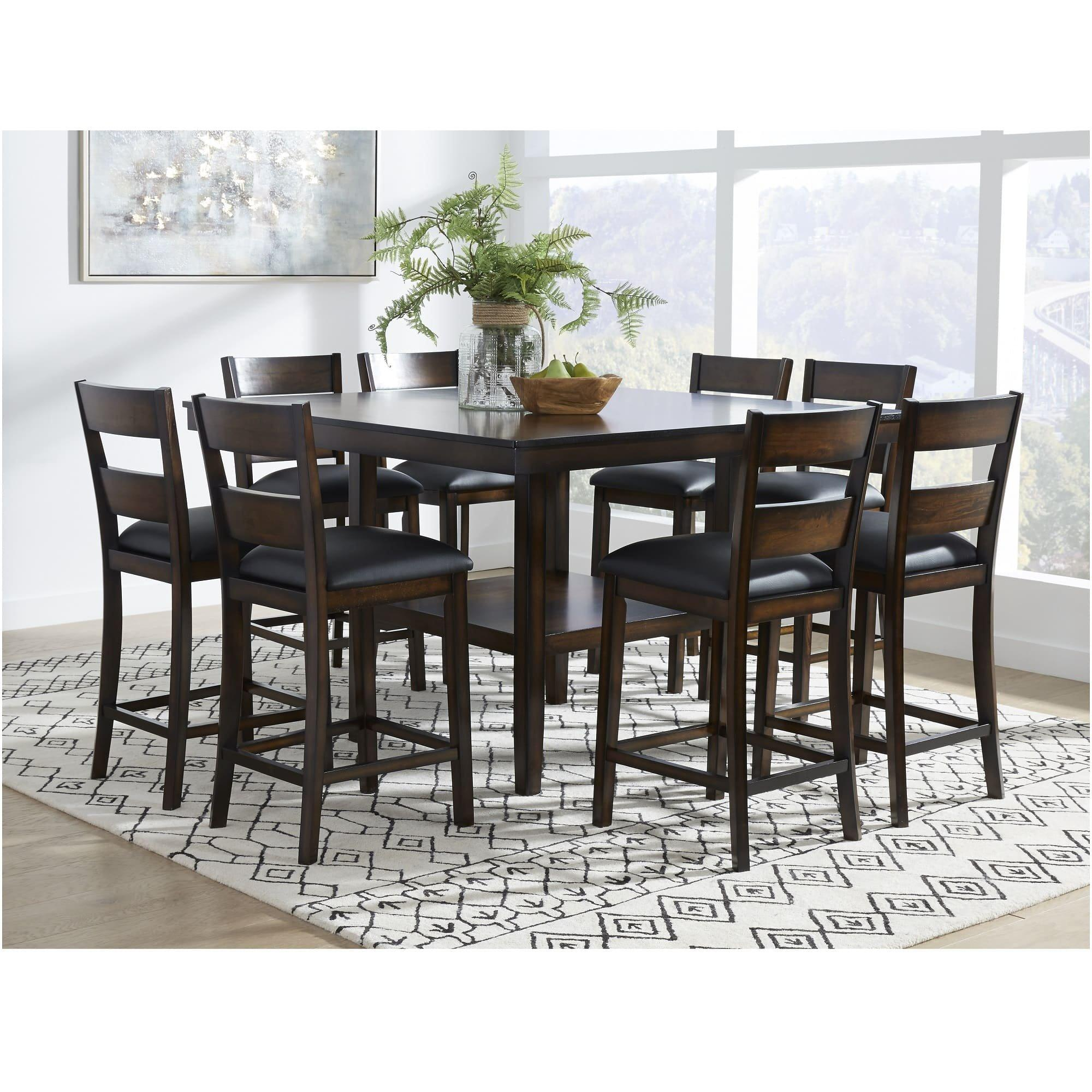 Rent To Own Standard 9 Piece Delaney Counter Height Dining Room Collection At Aaron S Today