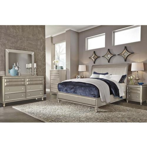 11-Piece Glam Queen Bedroom Set w/ Corsicana Tight Top Firm Mattress