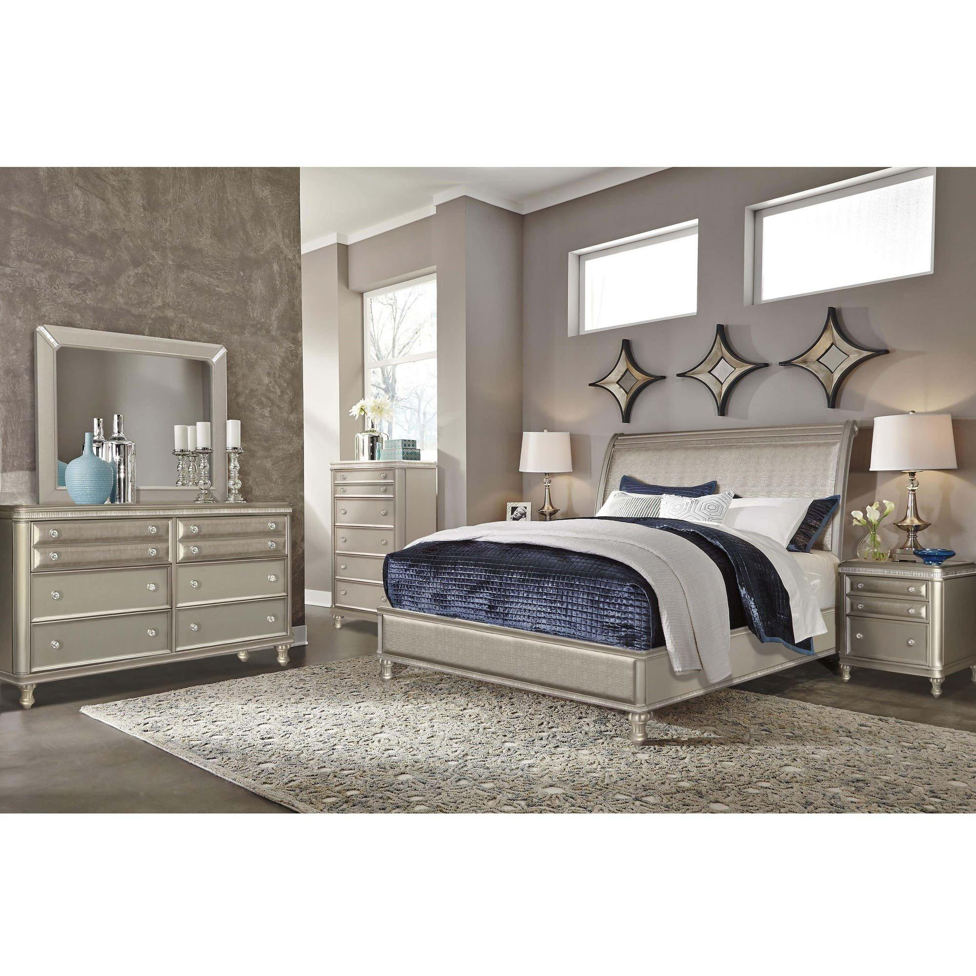 Rent To Own Riversedge Furniture 7 Piece Glam King Bedroom Collection At Aaron S Today