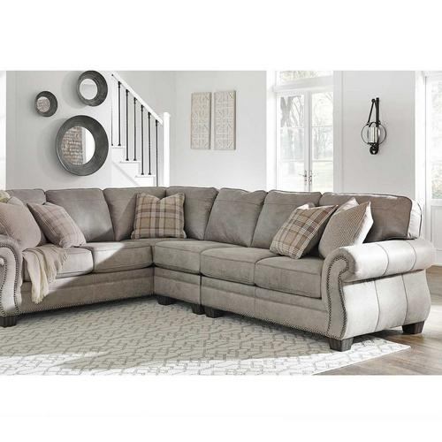To Own Ashley 3 Piece Olsberg, Sectional Living Room Furniture