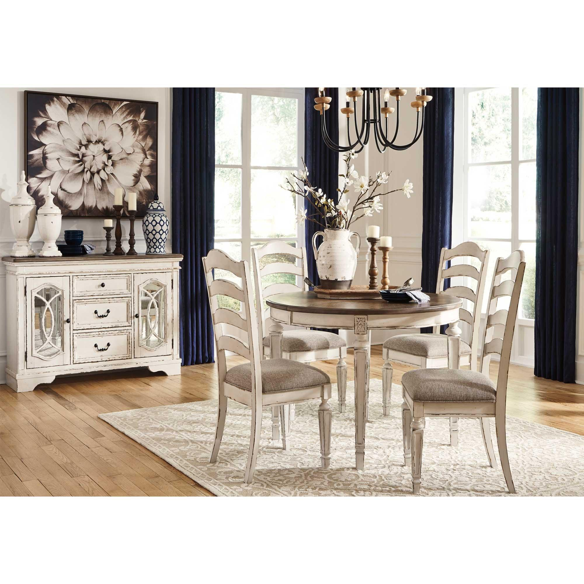 Ashley 6 Piece Realyn Dining Room, Aarons Dining Room Sets