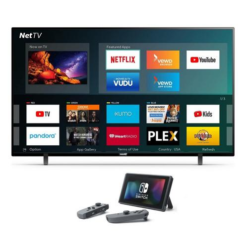 "75"" Class Smart 4K UHD TV & Nintendo Switch Bundle"