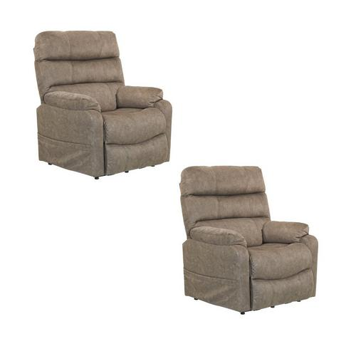 2 Power Lift Lay-Flat Recliners Bundle