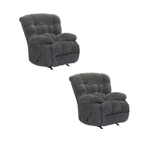 2 Medium Rocker Recliners Bundle