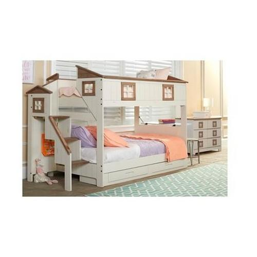 Home Sweet Home Twin Over Twin Storage Bunk Bed