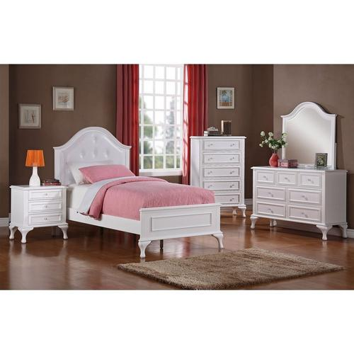 6-Piece Jesse Twin Panel Bedroom Set with Chest