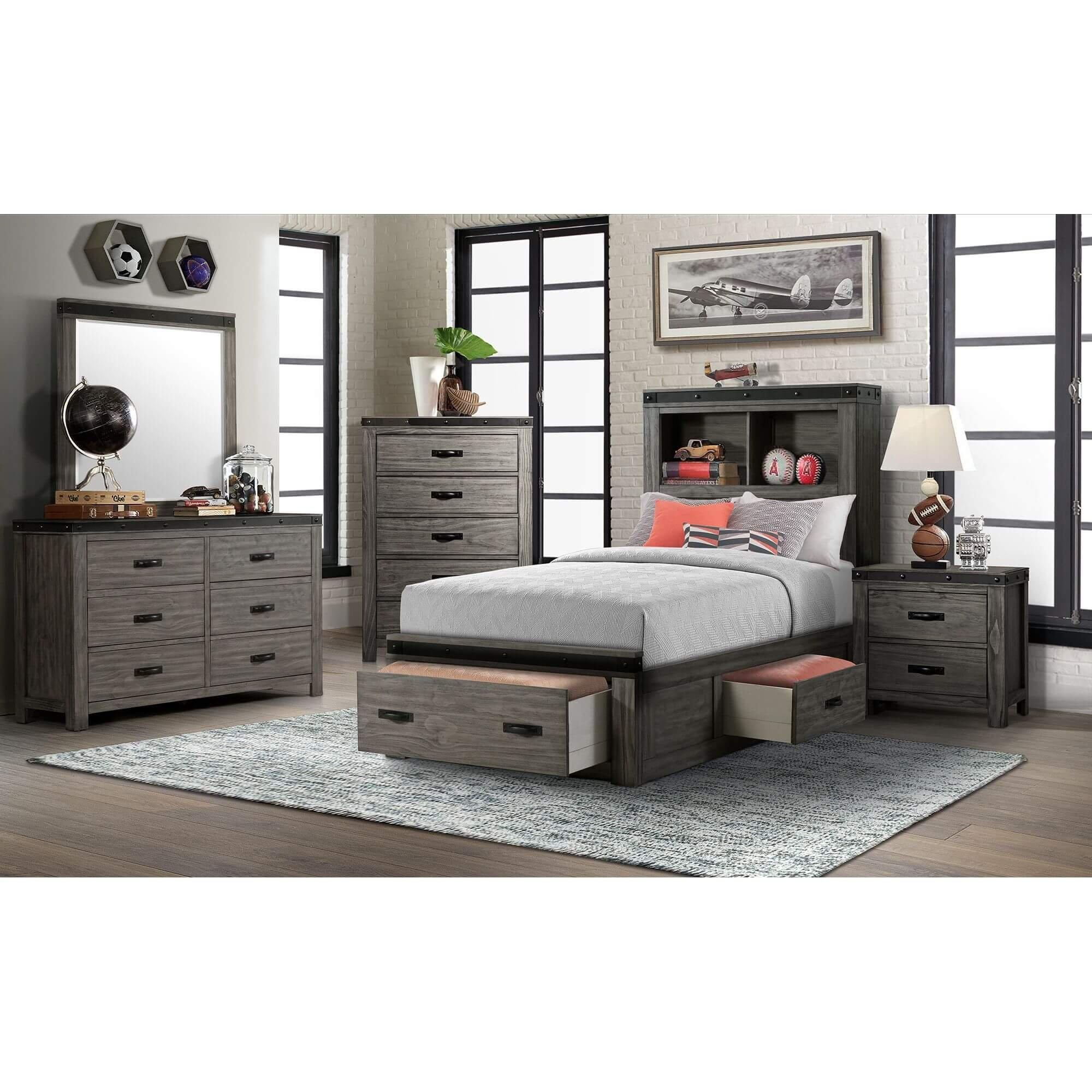 Rent To Own Elements International 6 Piece Wade Twin Bedroom Set At Aaron S Today