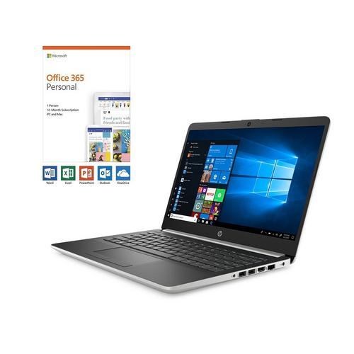"""14"""" 128GB SSD Laptop with A4 CPU Microsoft 365 Personal and Total Defense"""