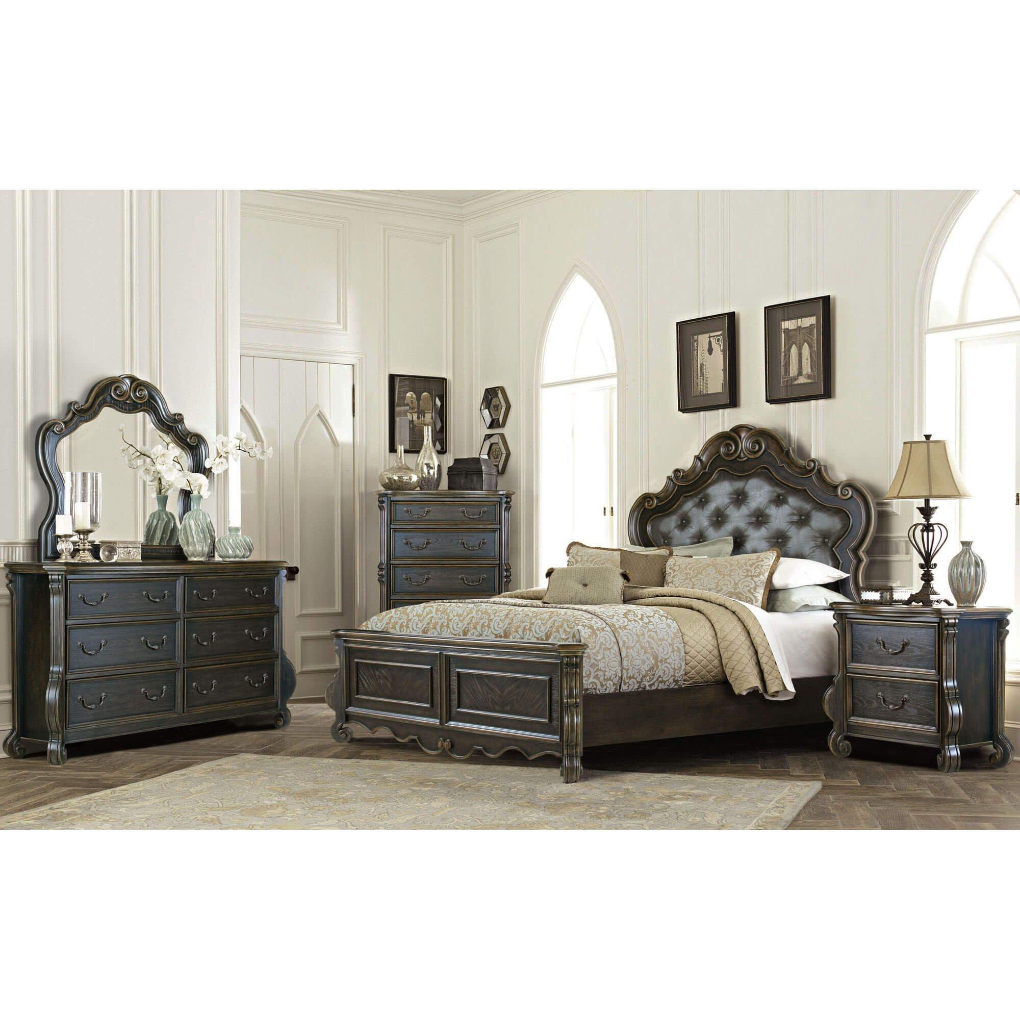 Rent To Own Riversedge Furniture 7 Piece Charlotte King Bedroom Collection At Aaron S Today