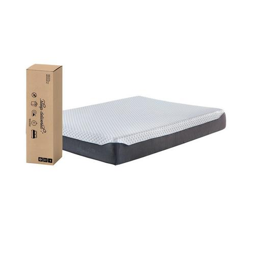 """10"""" Tight Top Firm Queen Memory Foam Boxed Mattress with Platform Frame & Protector"""