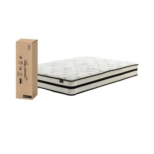 "10"" Tight Top Medium Queen Hybrid Boxed Mattress with Platform Frame & Protector"