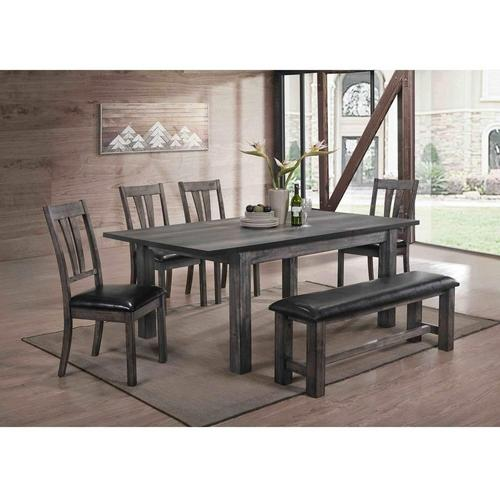 6-Piece Nathan Dining Room Collection with Upholstered Chairs & Bench