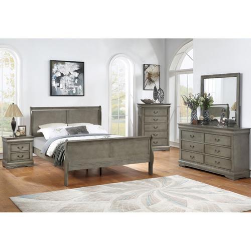 7-Piece Louis Philip Grey Twin Bedroom