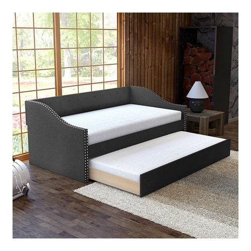 Tulip Twin Daybed w/Trundle - Black