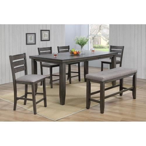6-Piece Bardstown Grey Counter Height Dining Set