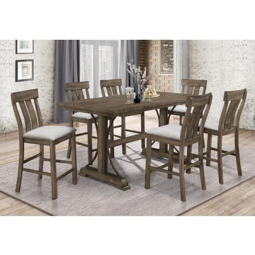 7-Piece Quincy Counter Height Dining Set with 6 Chairs