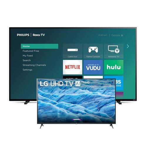 "2 TV Bundle - Philips 65"" Class and LG 43"" Class 4K UHD Smart TVs"