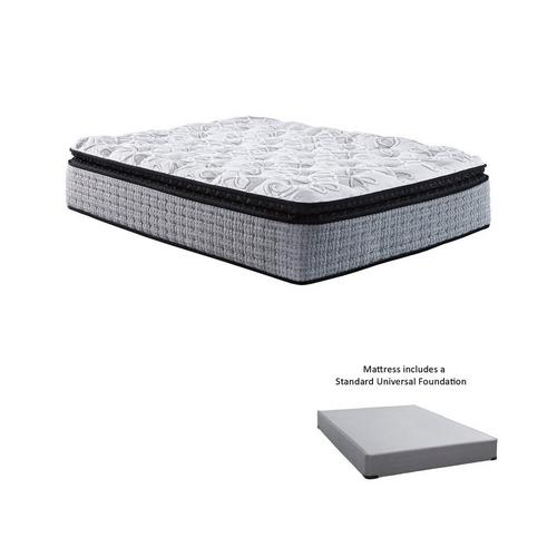 """16"""" Pillow Top Plush Queen Innerspring Boxed Mattress with 9"""" Foundation & Protectors"""