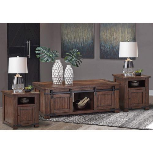 3-Piece Budmore Cocktail & 2 End Tables Set