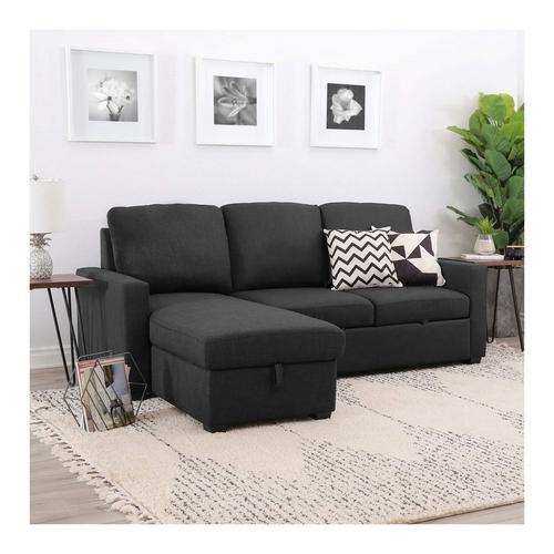 2-Piece Newton Grey Chaise Sofa