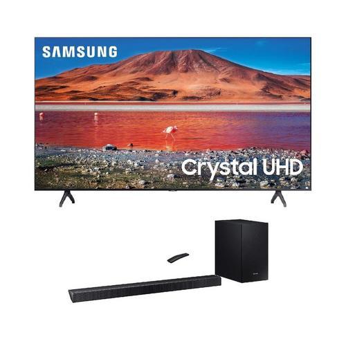 "55"" Class 4K UHD Smart TV & 320W 2.1Ch Sound Bar Bundle"