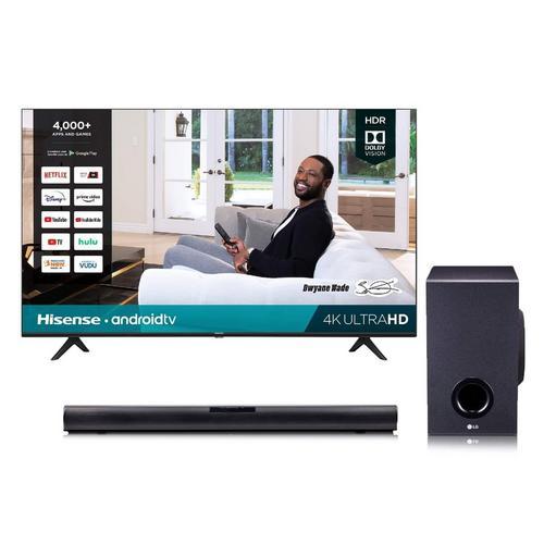 "43"" Class 4K UHD Smart TV & LG 160W 2.1Ch Sound Bar Bundle"