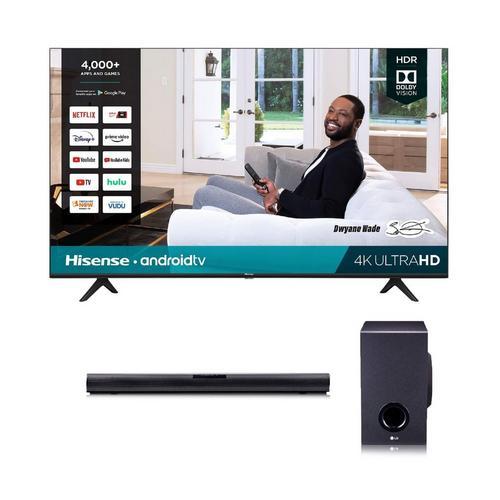 "50"" Class 4K UHD Smart TV & LG 160W 2.1Ch Sound Bar Bundle"