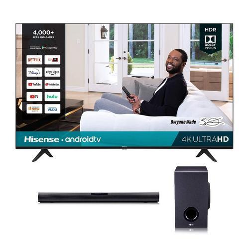 "55"" Class 4K UHD Smart TV & LG 160W 2.1Ch Sound Bar Bundle"