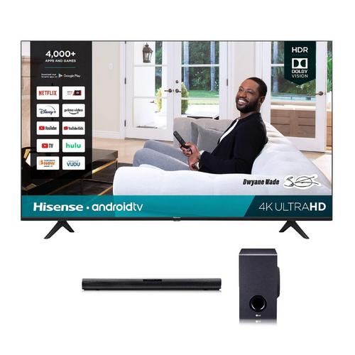 "65"" Class 4K UHD Smart TV & LG 160W 2.1Ch Sound Bar Bundle"