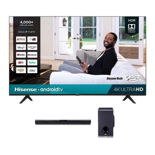 "75"" Class 4K UHD Smart TV & LG 160W 2.1Ch Sound Bar Bundle"