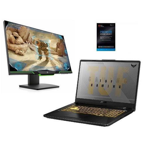 """17.3"""" TUF Gaming Laptop w/ AMD Ryzen 7 CPU, 25"""" Gaming Monitor & Total Defense Security"""