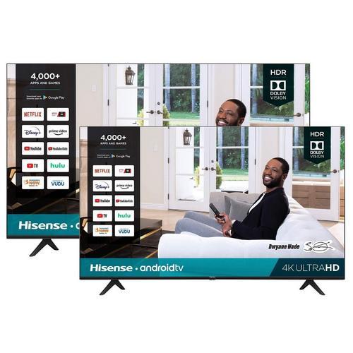 """2 TV Bundle - 55"""" Class and 43"""" Class 4K UHD Smart TVs"""