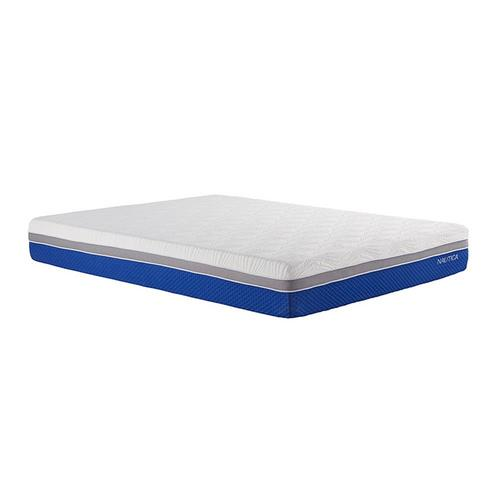 "10"" Tight Top Medium Queen Gel Memory Foam Boxed Mattress w/ Foundation & Protectors"