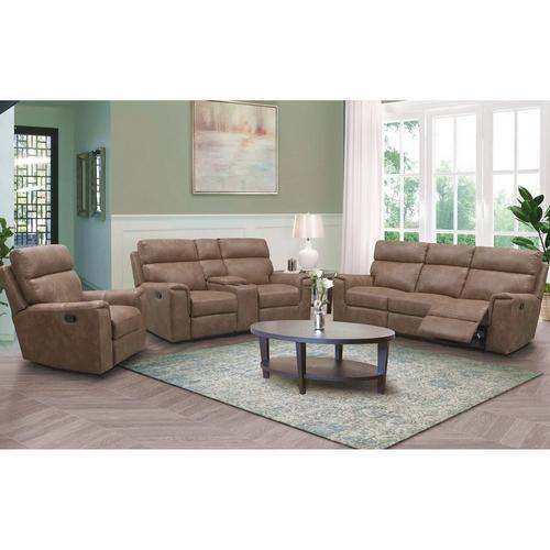 3-Piece Lawrence Recliner Sofa, Loveseat & Recliner - Camel