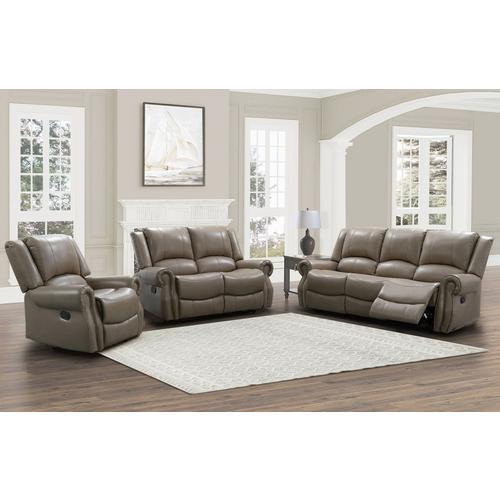 3-Piece Bradford Recliner Sofa, Love & Recliner - Beige