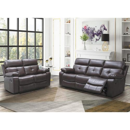 2-Piece Charleston Recliner Sofa & Love - Brown
