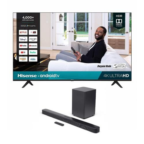 "50"" Class 4K UHD Smart TV & JBL Bar 2.1 Soundbar Bundle"
