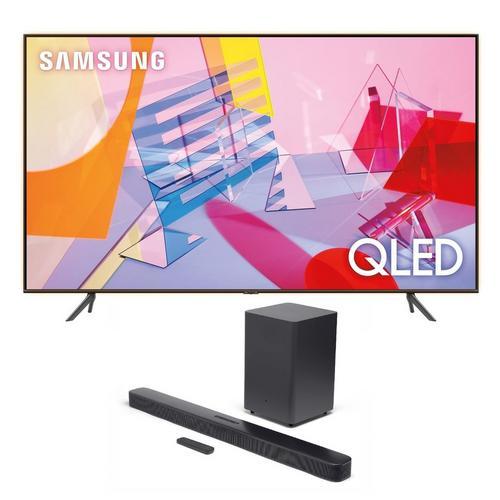 """75"""" Class QLED 4K UHD Smart TV & JBL Bar 2.1 Soundbar Bundle"""