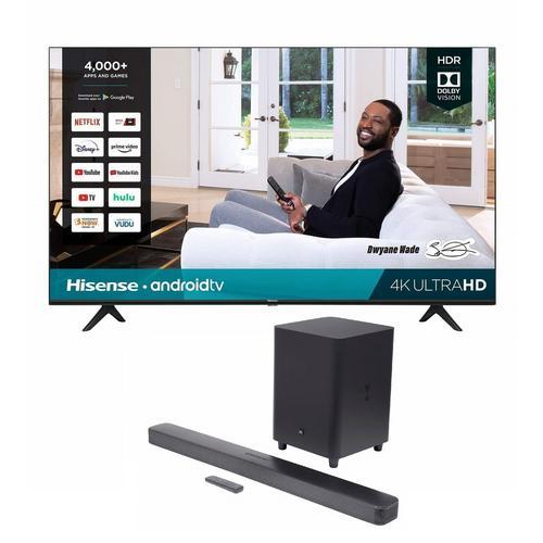 "65"" Class 4K UHD Smart TV & JBL Bar 5.1 Soundbar Bundle"