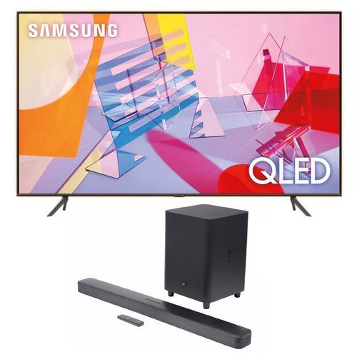 """75"""" Class QLED 4K UHD Smart TV & JBL Bar 5.1 Soundbar Bundle"""