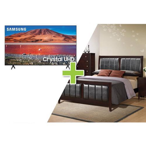 """7-Piece Lawrence Queen Bedroom w/ Samsung 50"""" Class 4K UHD Smart TV"""
