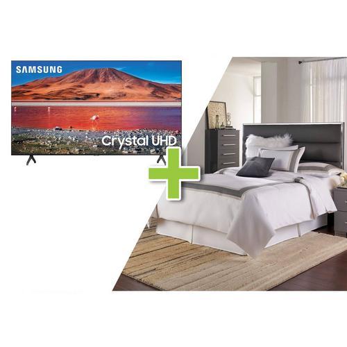 """5-Piece Dimora II Queen Bedroom w/ Samsung 50"""" Class 4K UHD Smart TV"""